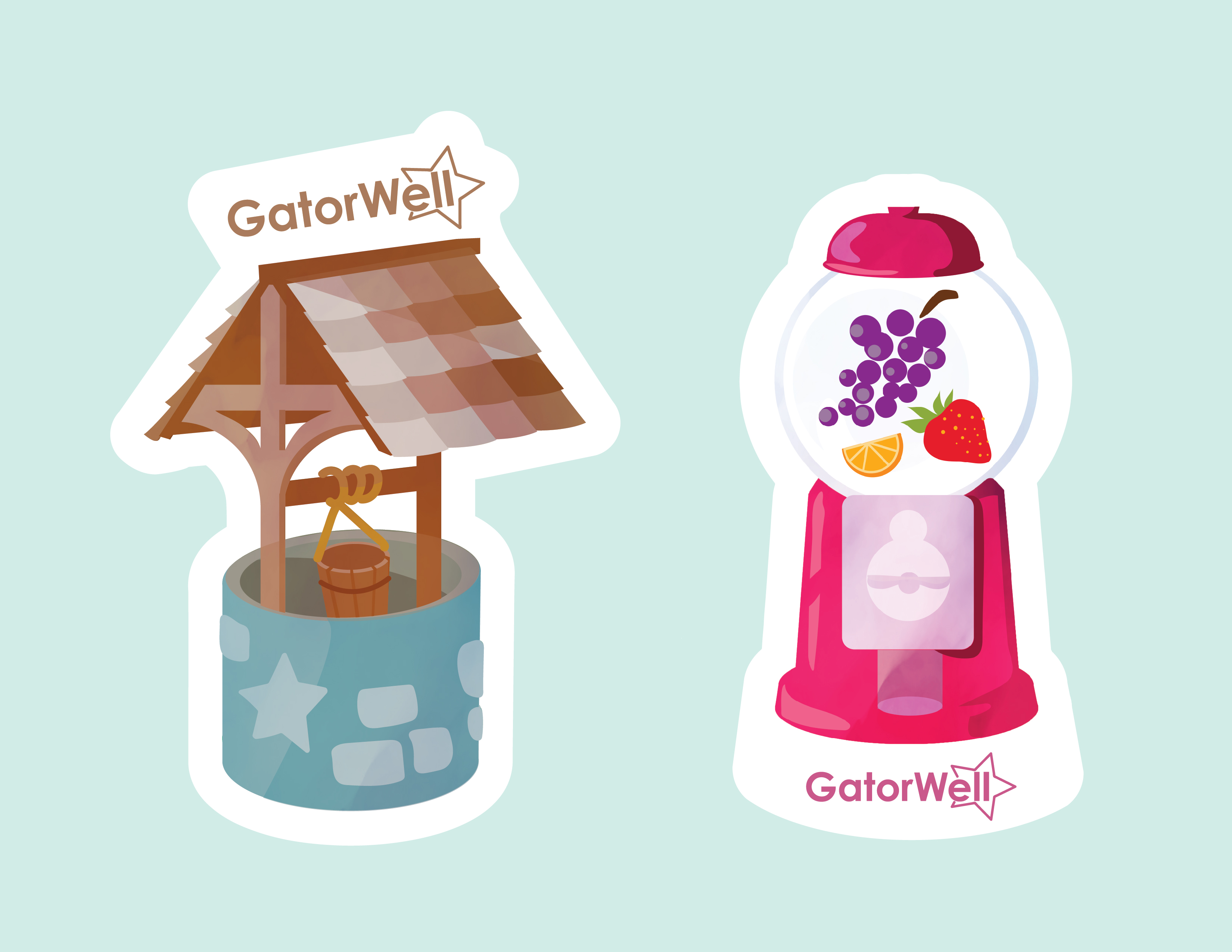 Wishing Well and Fruit Dispenser Stickers-01